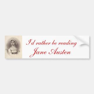 Jane Austen Pegatina Para Auto