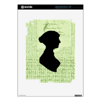 Jane Austen Call Me Lady Jane CrissCrossed Letter Decal For iPad 2