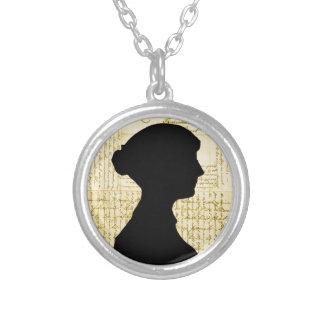Jane Austen, Call Me Lady Jane Series Round Pendant Necklace