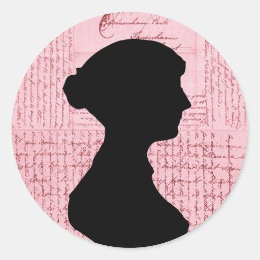 Jane Austen, Call Me Lady Jane Series Round Sticker