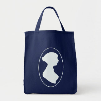 Jane Austen Cameo Grocery Shopping Bag