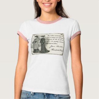 Jane Austen: Camiseta bonita de las mujeres Camisas
