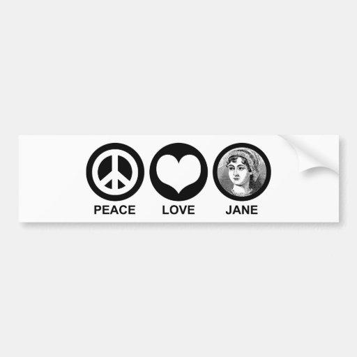 Jane Austen Car Bumper Sticker