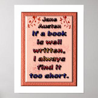 Jane Austen - citas Póster