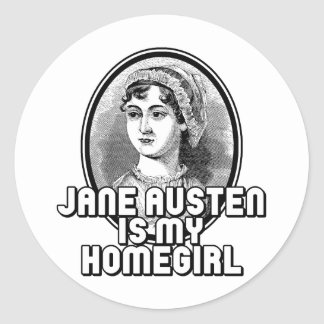 Jane Austen Classic Round Sticker