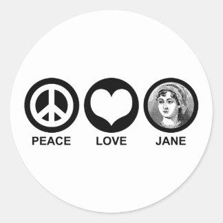 Jane Austen Classic Round Sticker