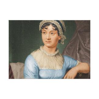 Jane Austen Color Portrait Fine Art Canvas Canvas Print