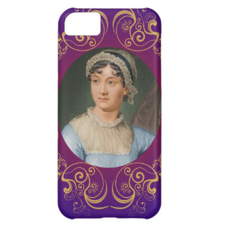 Jane Austen Color Portrait in Gold Swirl Frame iPhone 5C Cover