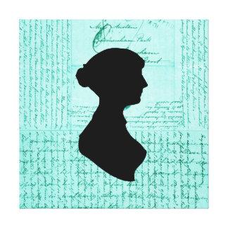 Jane Austen Criss Crossed Letter Handwritten Gallery Wrapped Canvas