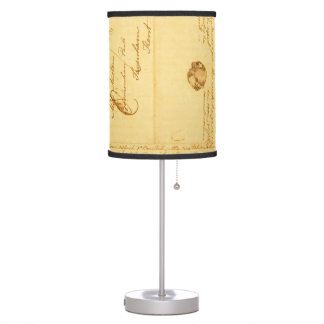 Jane Austen CrissCrossed Letter Table Lamp
