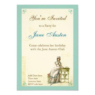 "Jane Austen Custom Announcements 5"" X 7"" Invitation Card"