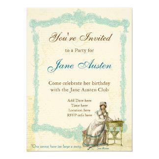 "Jane Austen Custom Invitations 5.5"" X 7.5"" Invitation Card"