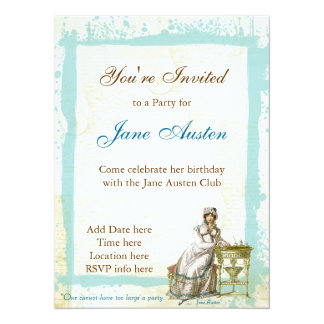 Jane Austen Custom Invitations