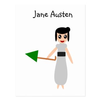 Jane Austen Cute Kawaii Postcard