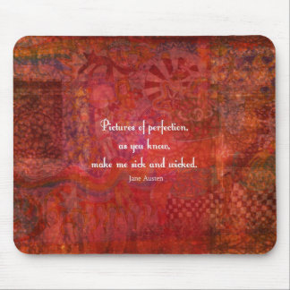 Jane Austen cute, literary quote Mouse Pad