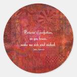 Jane Austen cute, literary quote Round Sticker