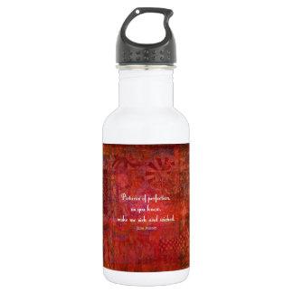 Jane Austen cute, literary quote Stainless Steel Water Bottle