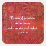 Jane Austen cute, literary quote Stickers