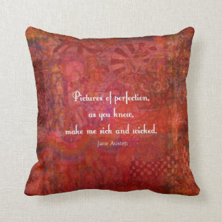Jane Austen cute, literary quote Throw Pillow