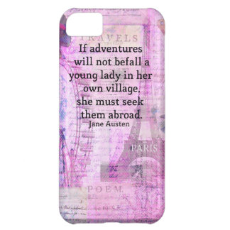 Jane Austen cute travel quote with art iPhone 5C Covers