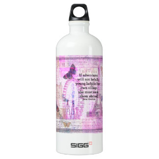 Jane Austen cute  travel quote with art SIGG Traveler 1.0L Water Bottle
