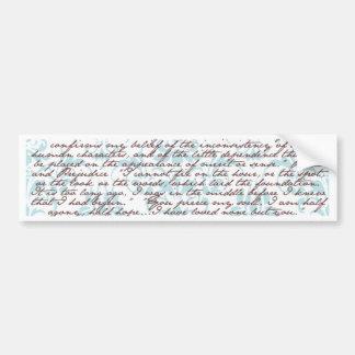 Jane Austen Damask Bumper Sticker