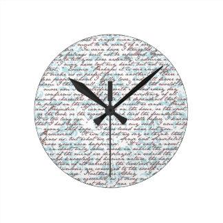 Jane Austen Damask Wall Clocks
