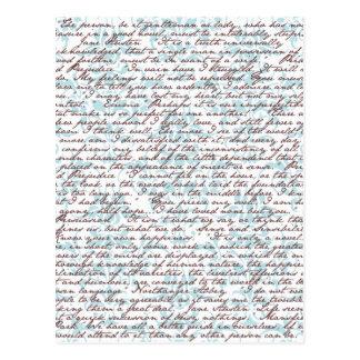 Jane Austen Damask Postcard