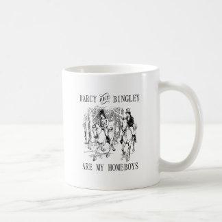 Jane Austen Darcy & Bingley Homeboys mug