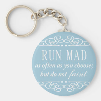 Jane Austen: Do Not Faint Keychain (Pale Blue)