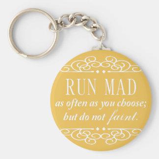 Jane Austen: Do Not Faint Keychain (Yellow)
