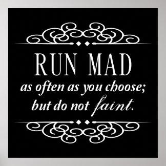 Jane Austen: Do Not Faint Quote Poster (Black)