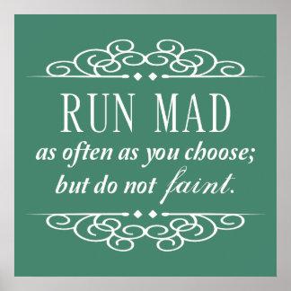 Jane Austen: Do Not Faint Quote Poster (Teal)