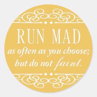 Jane Austen: Do Not Faint quote stickers (yellow)