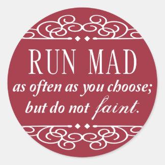 Jane Austen: Do Not Faint sticker sheets (red)