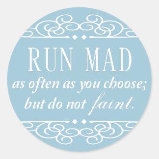 Jane Austen: Do Not Faint stickers (pale blue)