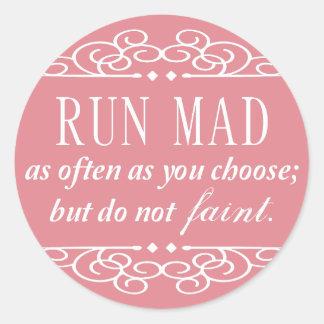 Jane Austen: Do Not Faint stickers (pale pink)