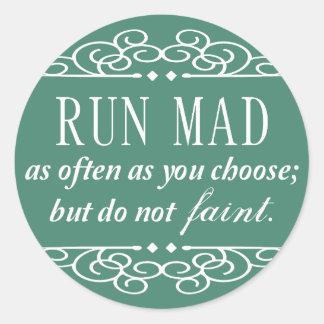 Jane Austen: Do Not Faint stickers (teal green)