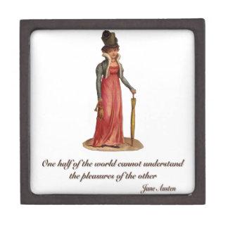Jane Austen en el malentendido Cajas De Joyas De Calidad