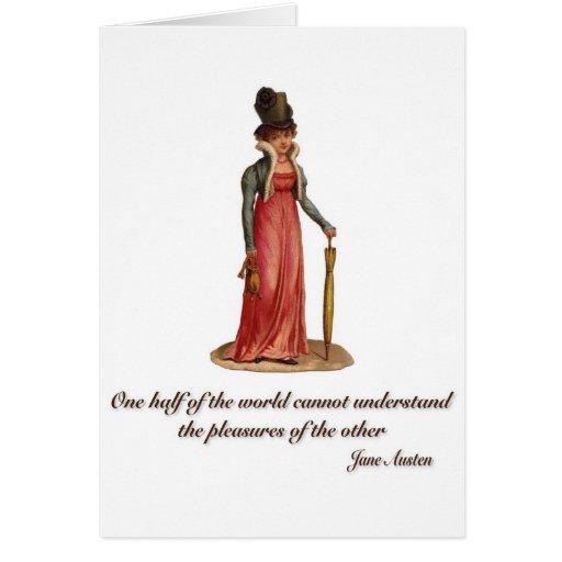 Jane Austen en el malentendido Felicitacion