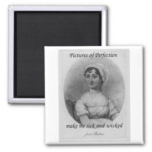 Jane Austen es enfermo y travieso Imán De Frigorífico