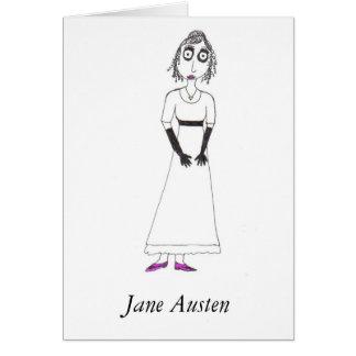 Jane Austen espeluznante Tarjeta De Felicitación