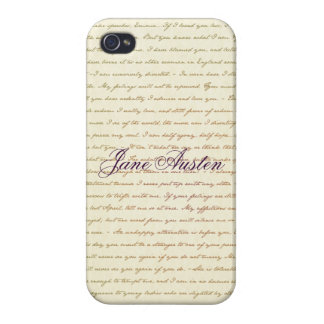 Jane Austen Filled with Quotes case iPhone 4 Cover