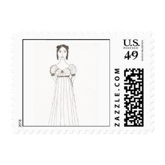 Jane Austen Girl Stamp