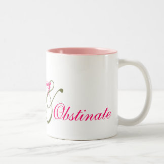Jane Austen Headstrong Obstinate Two-Tone Coffee Mug
