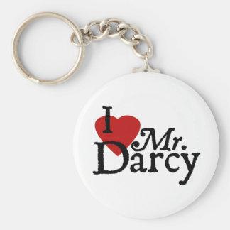 Jane Austen Heart Darcy Keychain