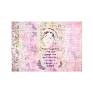 Jane Austen humorous quote regarding love art Canvas Print
