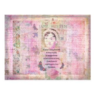 Jane Austen humorous quote regarding love Postcard