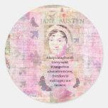 Jane Austen humorous quote regarding love Round Sticker
