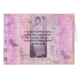 Jane Austen humorous snarky quote Greeting Card